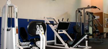 White fitness machines