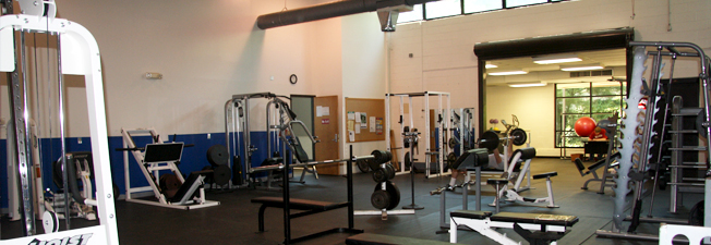Blue Ridge Community College Fitness Room Photo of equipment