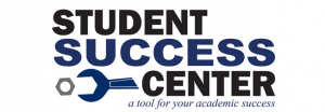 "Student Success Center logo; Caption:""a tool for your academic success"""