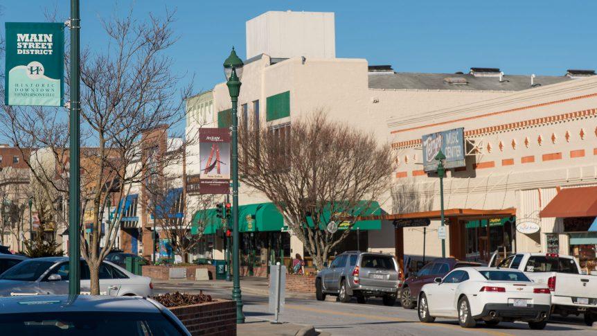 hendersonville's main street district