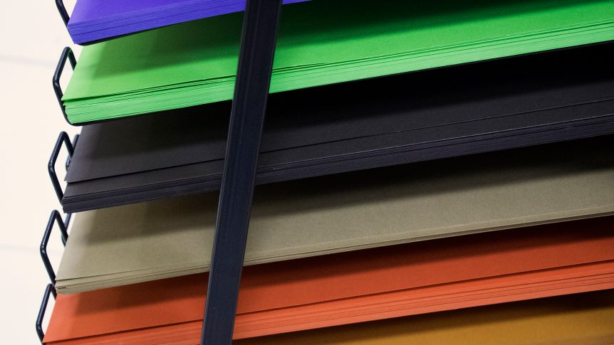 stacks colors of paper