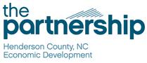 Logo: the partnership Henderson County, NC Economic Development