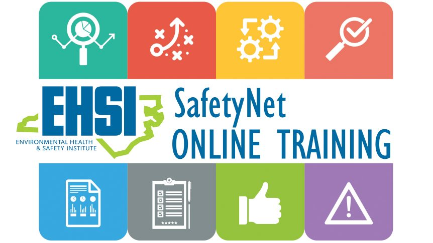 EHSI SafetyNet Online Training environmental safety and strategy icons