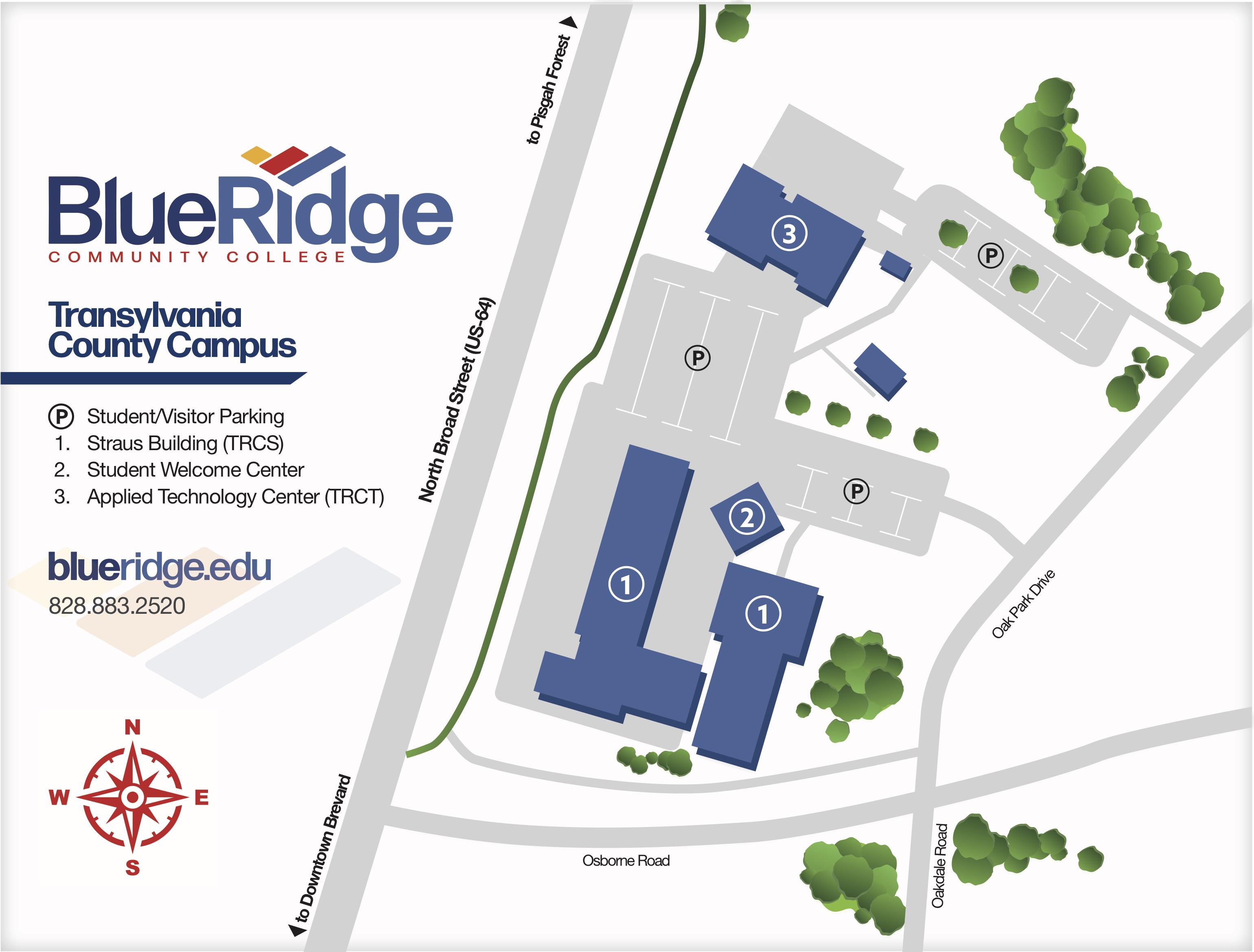 Blue Ridge Community College Transylvania County Campus Map