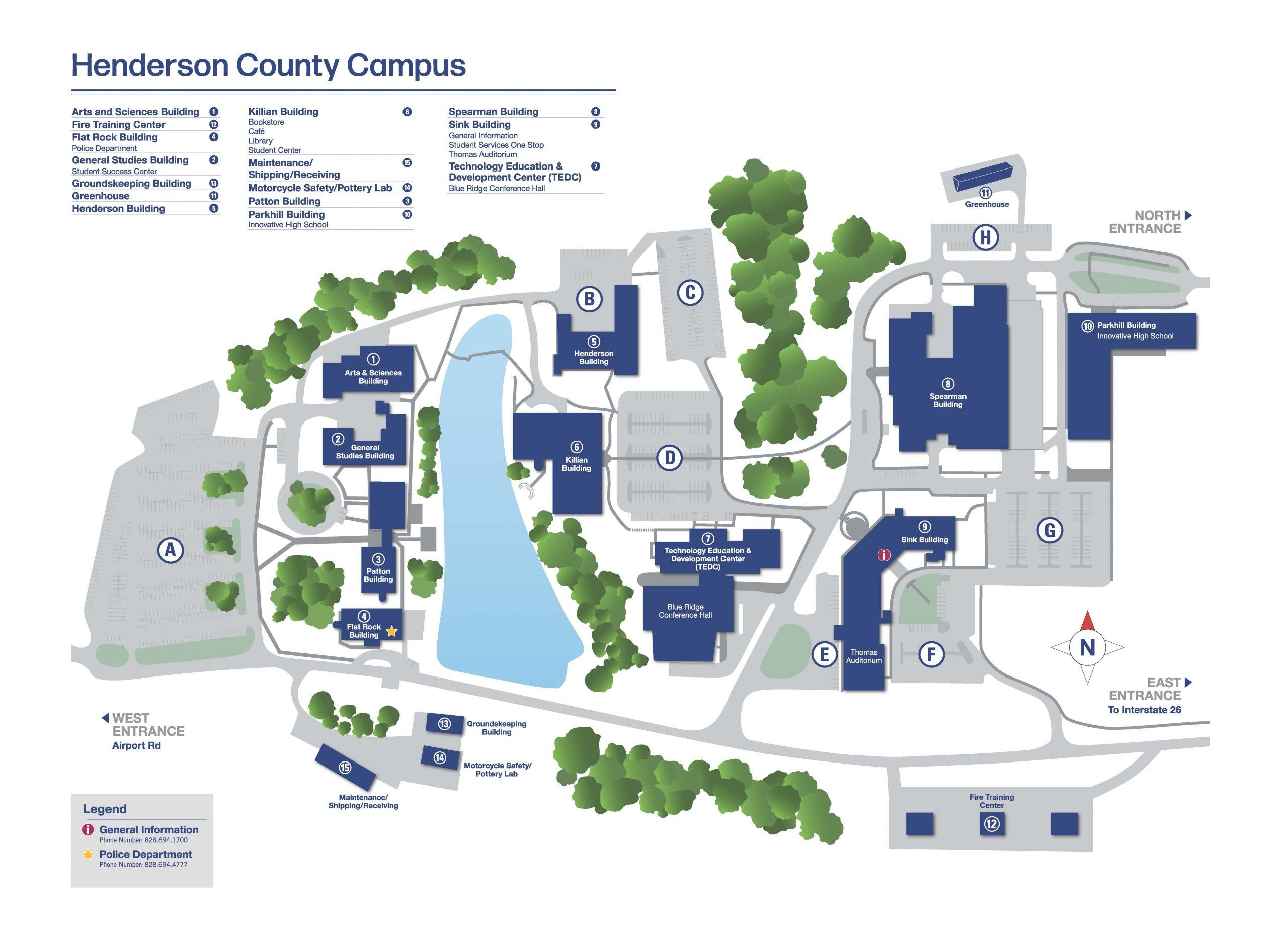 Blue Ridge Community College map