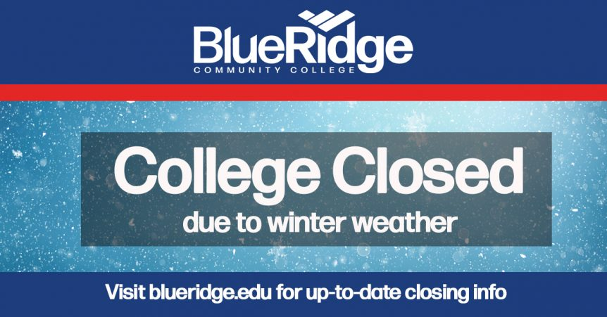 College Closed for Winter Weather graphic