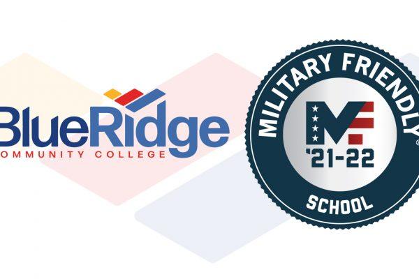 Blue Ridge logo beside Military Friendly logo