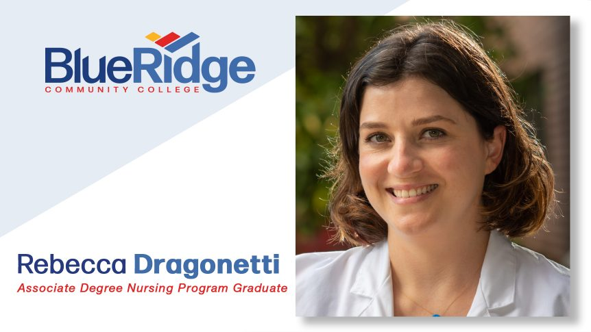 portrait, smiling of Rebecca Dragonetti, Associate Degree Nursing Program Graduate