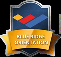 Blue Ridge Orientation badge