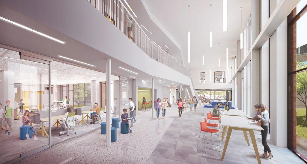 Architectural rendering, Blue Ridge Community College Patton Building project