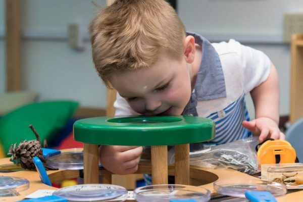 Male toddler playing